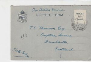 british on active service stamps cover 14th aug 1945 ref 18615