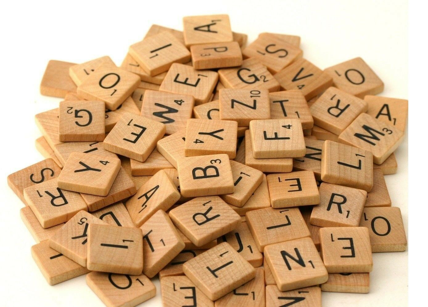 Wooden Scrabble Bulk Individual Tiles Numbers Letters For Crafts & Alphabet Game