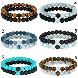Details About 2er Set Partnerarmband Las Men Stone Bracelet Friendship Bracelets Beads