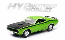 NEWRAY 1:24 CITY CRUIZER 1970 PLYMOUTH CUDA DIE-CAST GREEN SS-71875
