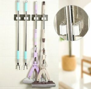 New-Kitchen-Mop-Broom-Holder-Wall-Mounted-Organizer-Brush-Storage-Hanger-Tool