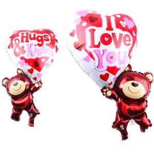 Palloncino-pallone-gonfiabile-Orso-orsetto-cuore-amore-San-Valentino-festa-party