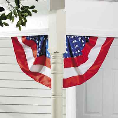 Patriotic Red White Blue Corner Bunting One Set 4th of July Decoration