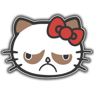 Hello Kitty grumpy cat sticker 117 x 82mm
