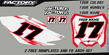 Honda CRF 50F 2013-16 Pre Printed Number plate Backgrounds BOLT SERIES