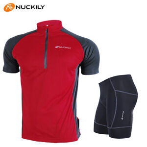 Men-Cycling-Bike-Short-Sleeve-Clothing-Bicycle-Sportswear-Set-Jersey-Shorts-Suit