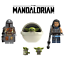 NEW-Baby-Yoda-The-Mandalorian-Star-Wars-Minifigure-Mini-Fig-Fits-Lego-And-Block miniature 1