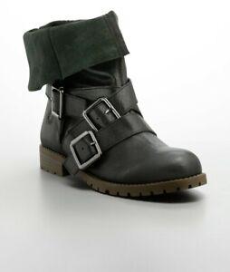1e2a0646c3bdf Details about Calvin Klein Jeans Farryn Grainy Leather Strappy Women's  Boots Size 9.5M w/box