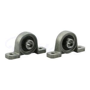 2Pcs Zinc Alloy Diameter 8mm Bore Ball Bearing Pillow Block Mounted Support KP08