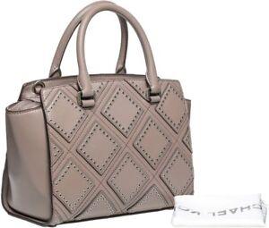 5ee0e34ad1d708 Image is loading 498-Michael-Kors-Cinder-Leather-Diamond-Grommet-Selma-