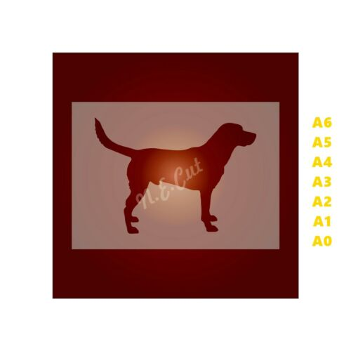 FOX HOUND Dog Stencil-Strong 350 micron Mylar not Hobby stuff #DOGS008