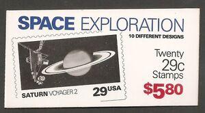 US-SC-BK192-Space-Exploration-Plate-111111-Complete-Booklet-MNH