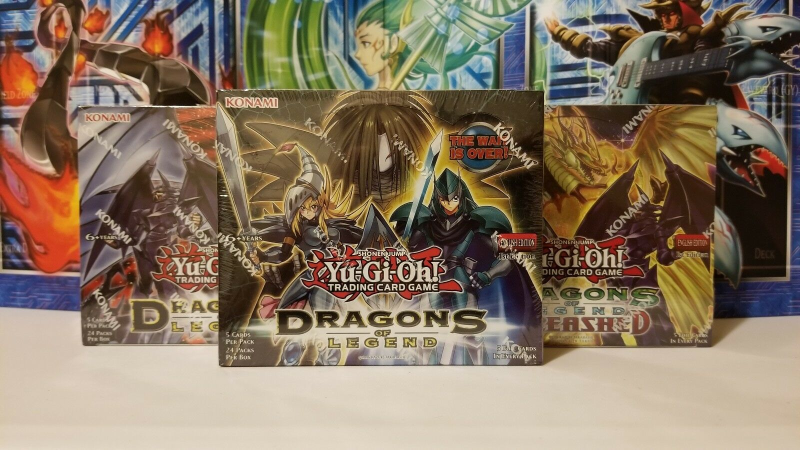 YUGIOH Dragons Of Legend Booster Box Box Box 1st Edition COLLECTION LOT NEW MINT SEALED  b3d921