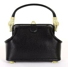 BARRY KIESELSTEIN-CORD Black Leather ALLIGATOR Small Doctor Bag NEW