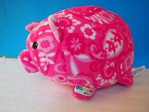 "Gorgeous Plump Plush Melissa and Doug BeePosh Pink Print Patty Pig 13x10x9"""