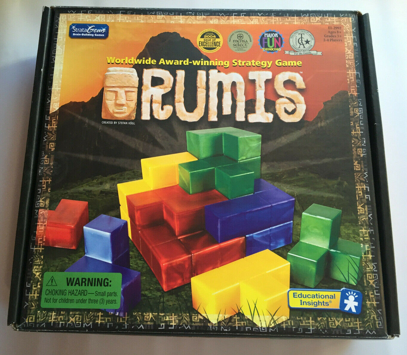 RUMIS strategy game 2 to 4 players StrataGems Educational Insights 3D pieces