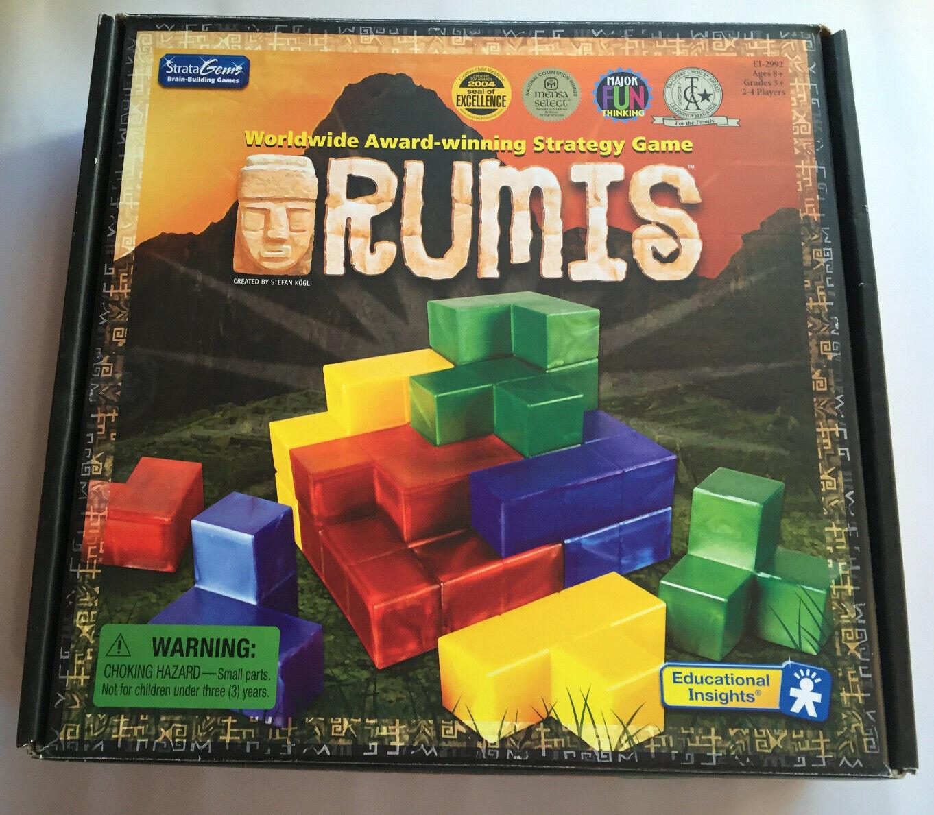 Rumis Juego de estrategia 2 a 4 jugadores estratagemas Educational Insights 3D piezas