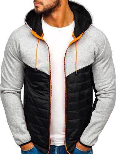 Übergangsjacke Steppjacke Sweatshirt Sweatjacke Classic Herren BOLF 4D4 Sport