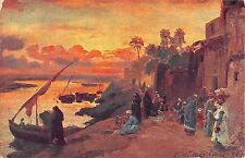 BR45363 Paint Peintures Un soir aux bords du Nil Cairo egypt