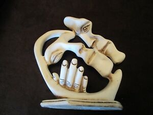 Modern-Sculpture-Couple-LOVERS-wedding-love-Statue-synthetic-clay-Faces-Hand