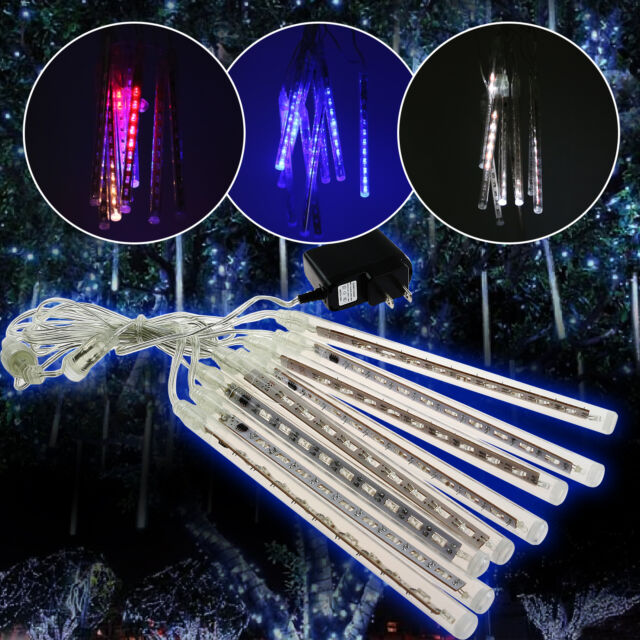 20/30/50cm Meteor Shower LED Rain Drop String Light Lamp Meteoric Christmas Tree
