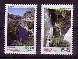 Rational Türkei 1999 Michelnr 3179-3180 Postfrisch naturparks : 2336 Fest In Der Struktur