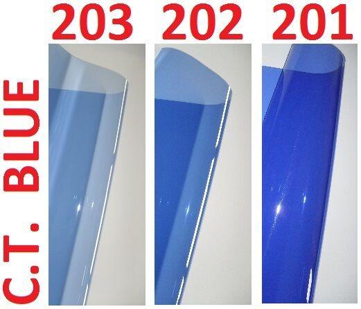"3 X CTB BLUE Lighting Filter Gel Sheets 24"" x 24"" 201 202 203 1/4 1/2 FULL BLUE"
