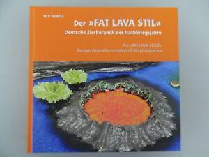 brandneues-Fat-Lava-Fachbuch-Vase-50er-60er-70er-Ruscha-Roth-Scheurich-ES