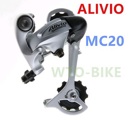 New Shimano Alivio RD-MC20 Rear Derailleur Old Stock 8 Speed MTB Rear Mech .1