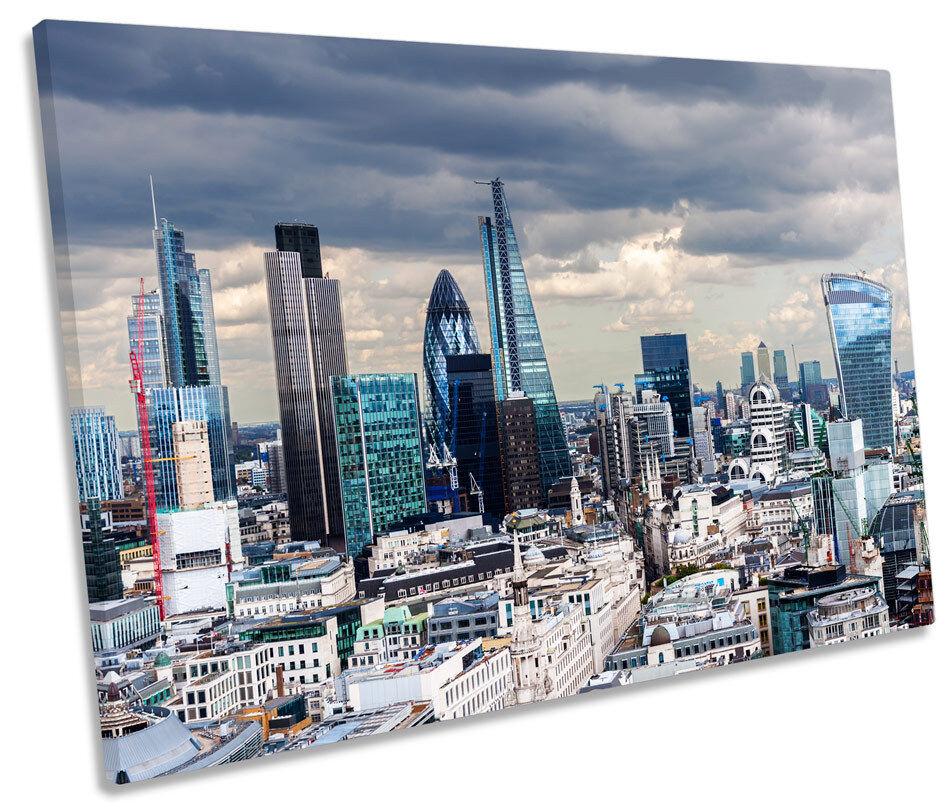 London Skyline tappe CITY TELA SINGOLA Wall Art Art Art Print Picture cc829e