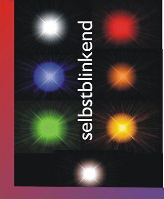 SMD Blink LED 0805 orange blinkend mit Decoderlitze 0,05mm² 5 Stück