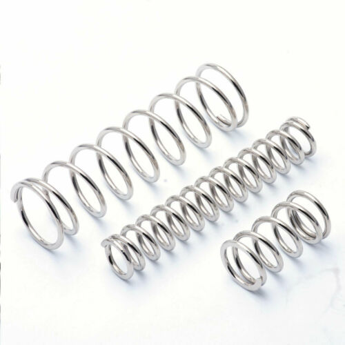 Compression Spring 2.5mm Wire Nickel Plated Steel Pressure Springs All Sizes DIY