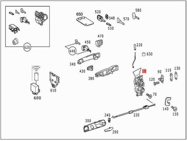 s l640 genuine mercedes door lock mechanism r170 1707200135 ebay