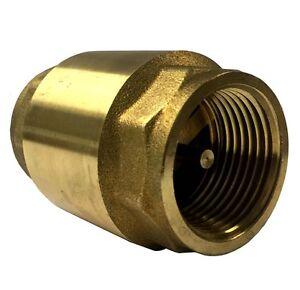 Libra Supply 1'', 1 inch, 1-inch (5 pcs) Brass Spring Check Valve, IPS Thread