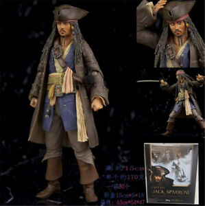 Pirates of the Caribbean Jack Sparrow 15 cm//6 /'/' PVC Figura Juguetes