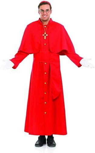 Cardinal COSTUME-ROBE FANTAISIE HOMME TENUE Sainte Religieux Fête d/'Halloween Adultes