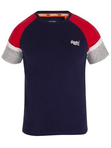 Superdry Orange Label England Baseball A Maniche Corte Girocollo T-Shirt Blu Navy