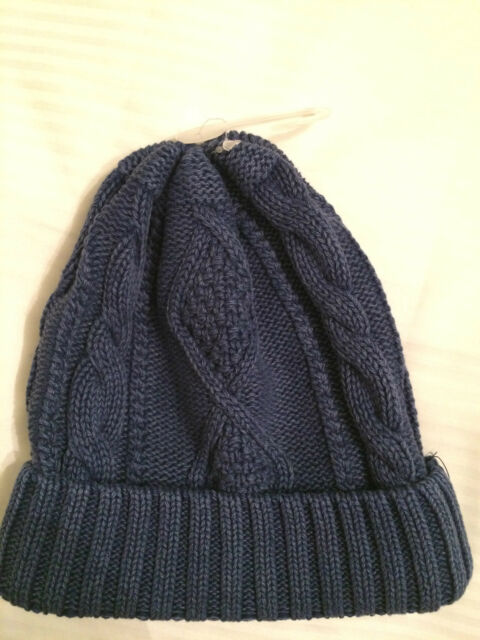 GAP Toddler Boy Blue Cable Knit Sweater Beanie Hat Size XS/S, S/M, M/L New!