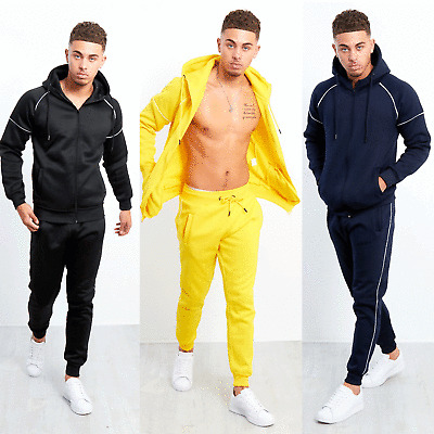 JUSTYOUROUTFIT Mens blocked pull through tracksuit Ts2356