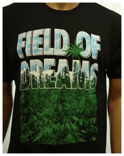 Men/'s T-Shirts Fashion Marijuana FIELD OF DREAMS Pot Printed Graphic Urban Tee