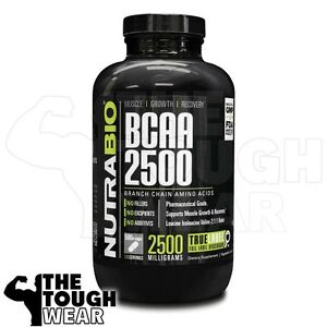 NUTRABIO-BCAA-2500-500caps-Branch-Chain-Amino-Acids-MUSCLE-GROWTH-RECOVERY