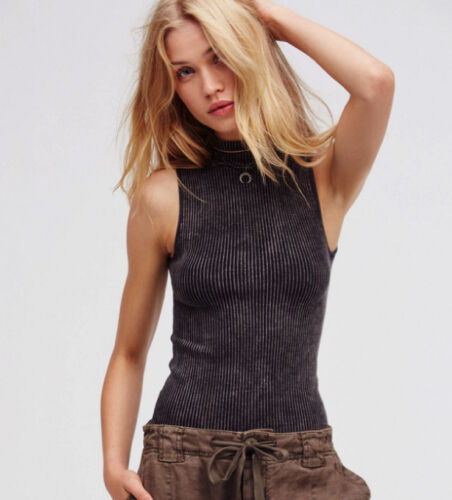 NEW Free People Intimately No Looking Back Washed Cami Black Sz XS//S-M//L $49.78