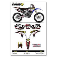 2010-2013 Yamaha Yzf 250 Team Rockstar Dirt Bike Graphics Kit Decal