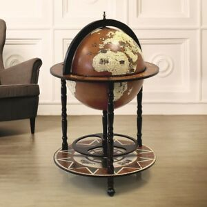 Image Is Loading Large Globe Shaped Drinks Cabinet Mini Bar Trolley