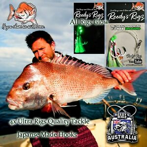 8 Snapper Fishing Rigs Pre Tied 4//0 Paternoster For Bait Fishing Mixed Rig
