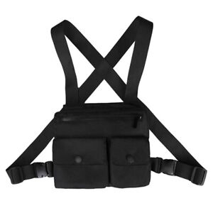 Men Chest Utility Bag Multi-Function Pocket Fashion Strap Vest Hip-Hop Street