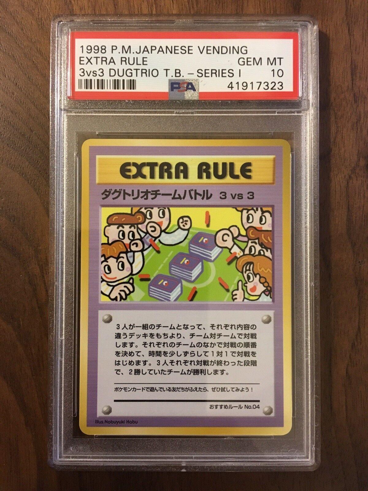 Pokémon - japanische - serie 3 - 3   3 dugtrio team battle (artikel 10) psa