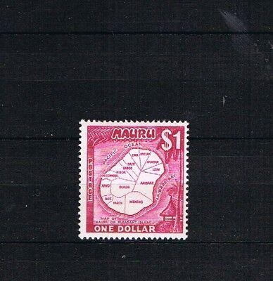 Schnelle Lieferung Nauru 1966 Freimarke 68 $1.00 High Value Landkarte Postfrisch/mnh Direktverkaufspreis
