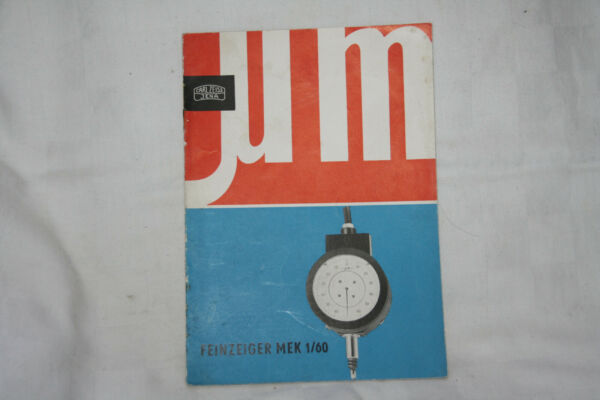 100% Wahr Carl-zeiss-jena Katalog - Feinzeiger Mek 1/60 - Prospekt