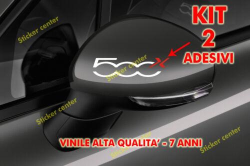 KIT 2 ADESIVI SPECCHIETTO RETROVISORE CALOTTA FIAT 500X 500 X